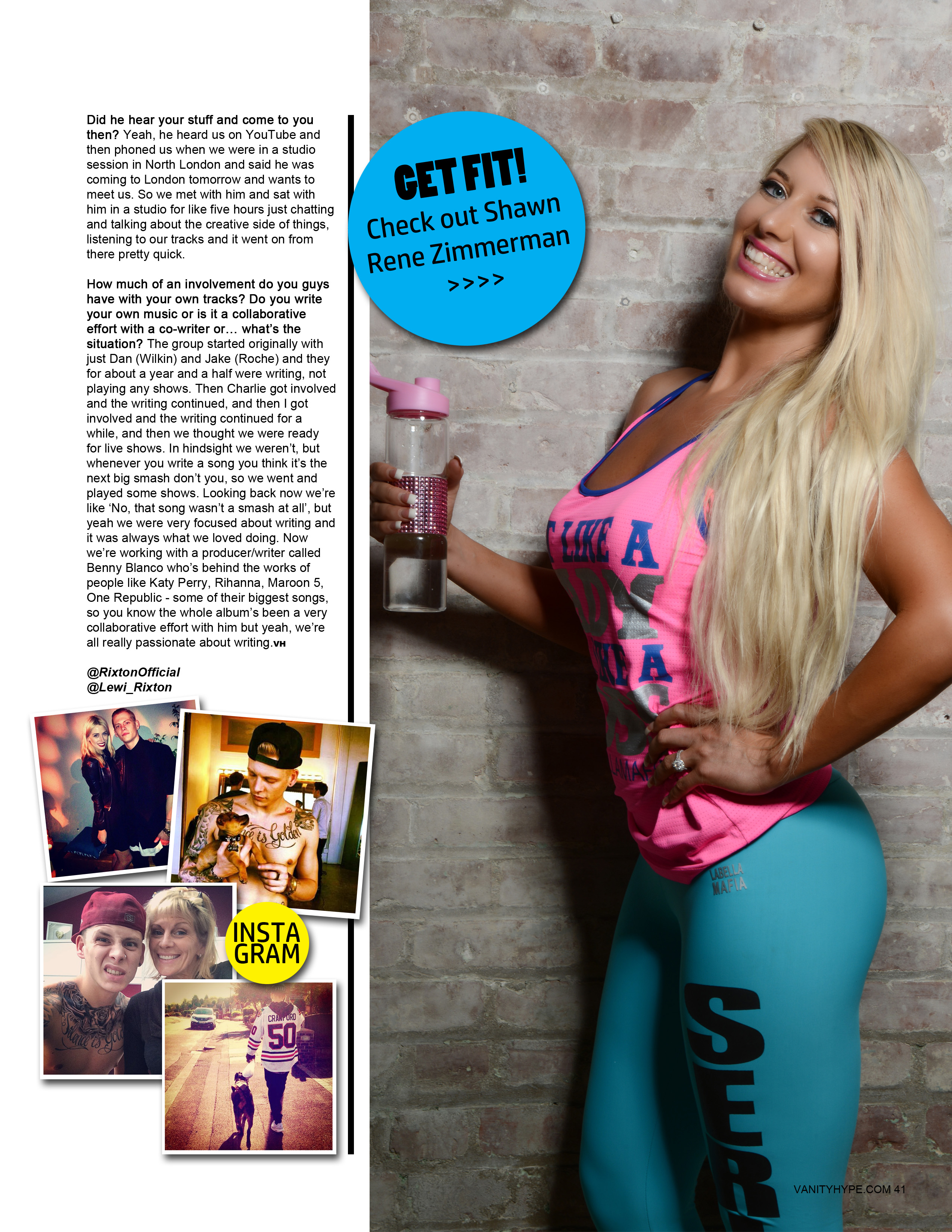 shawn rene zimmerman featured cover model in vanity hype london fashion