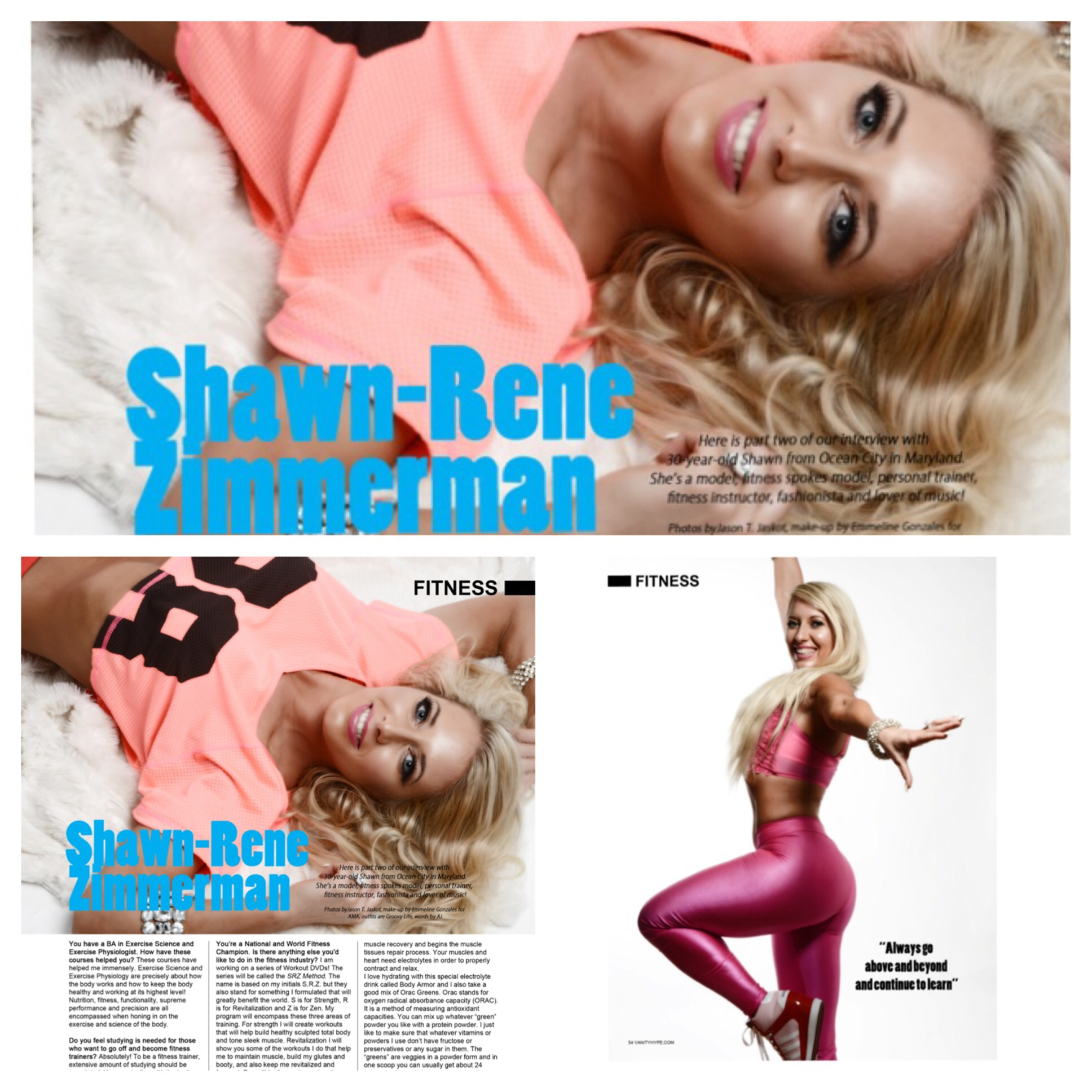 Vanity hype magazine fashion lifestyle shape fitness Shawn Rene Zimmerman