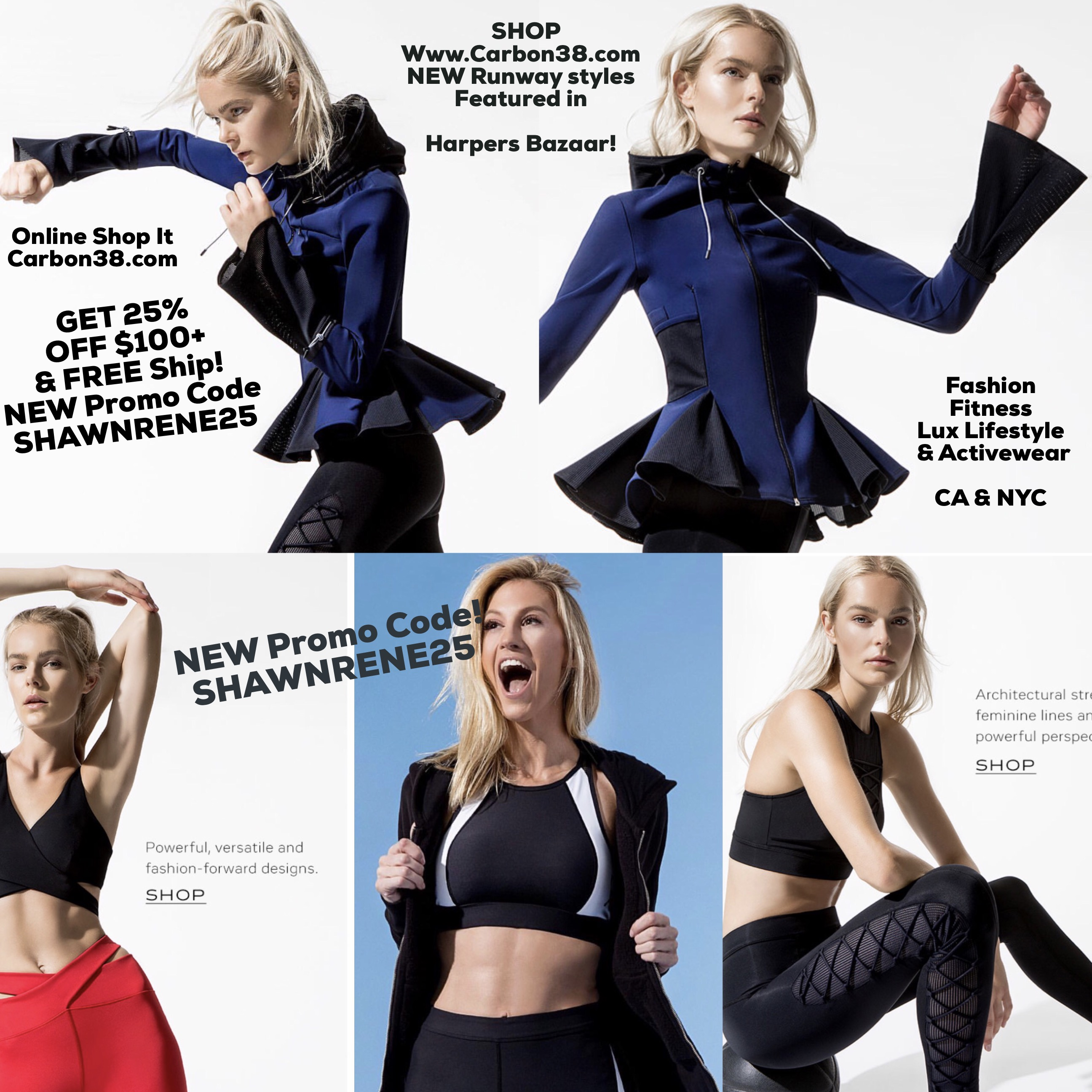 Carbon38 luxury fitness fashion athletes fitness model models activewear